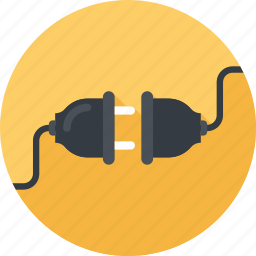 cable, connection, energy, plug, plug-in, power, wire icon