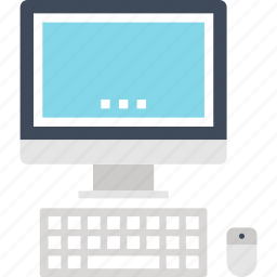 computer, desktop, device, hardware, keyboard, monitor, pc icon