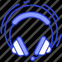 audio device, earphone, headphone, headphone with mic, headset, listening tool icon