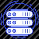 big data, data server, datacenter, db, sql icon