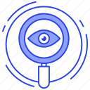 eye monitoring, observing, search monitoring, seo, watching icon