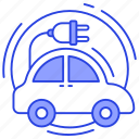 charging automobile, charging car, driverless car, electric car, electric transportation, electric vehicle icon