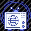 output device, retro tv, television, tv, vintage tv icon