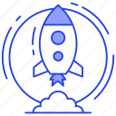 missile, rocket, rocket launch, spacecraft, spaceship, startup icon