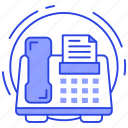 efax, electronic device, fax, fax machine, output device icon