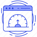 analytics, dashboard, reporting, web speed, webpage dashboard, website performance icon