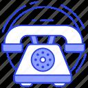 handset, landline, old communication, telephone, vintage phone icon