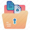 file, folder, lock, management icon