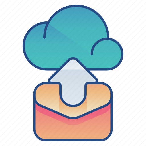 backup, cloud, email, message icon
