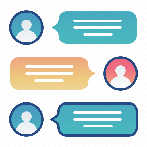chat, conversation, messaging, text icon