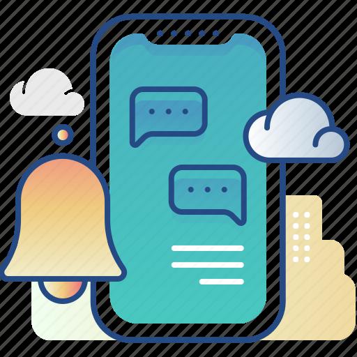 alert, message, notification, smartphone icon