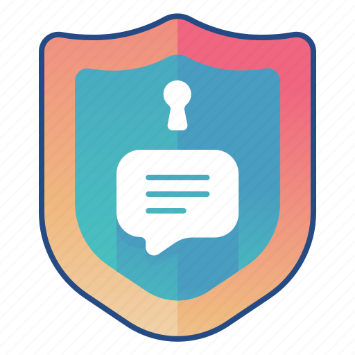 chat, privacy, secure, texting icon