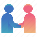 agreement, closed, deal, handshake icon