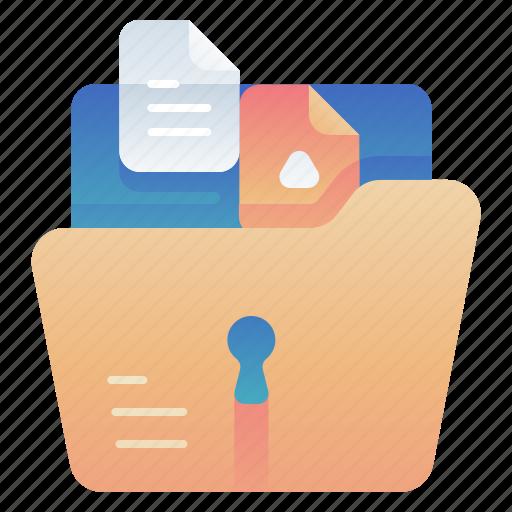 File, folder, lock, management icon - Download on Iconfinder