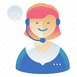 customer, female, support, woman icon