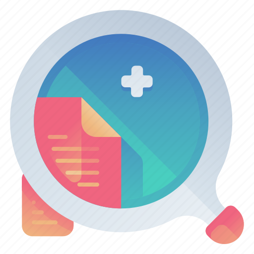document, file, find, searching icon