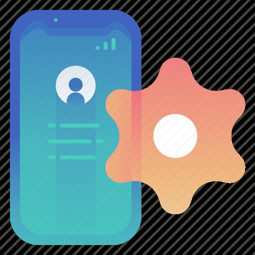 options, phone, settings, smartphone icon