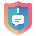 protection, secure, security, texting icon