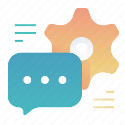 chat, message, options, settings icon