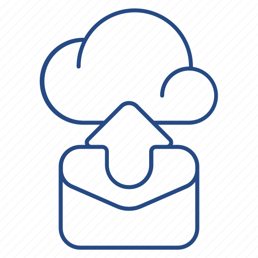 arrow, backup, cloud, folder icon