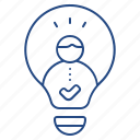 idea, lightbulb, thought