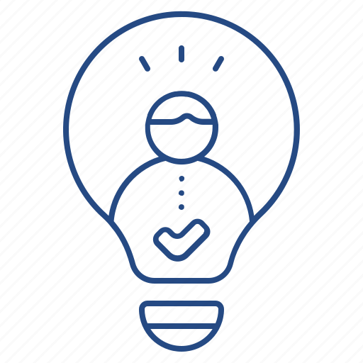 idea, lightbulb, thought icon