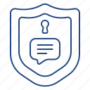 chat, secure, security, texting icon