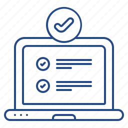 complete, laptop, set, up icon