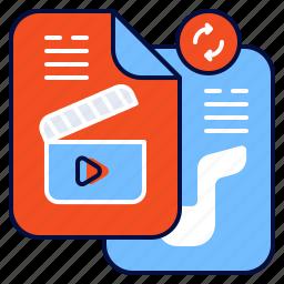 convert, file, media, multimedia icon