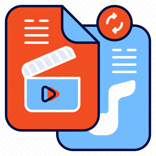 Convert, file, media, multimedia icon - Download on Iconfinder