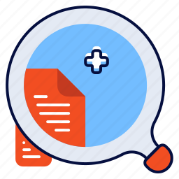 document, file, search, searching icon