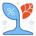 finance, growth, healthy, percentage icon