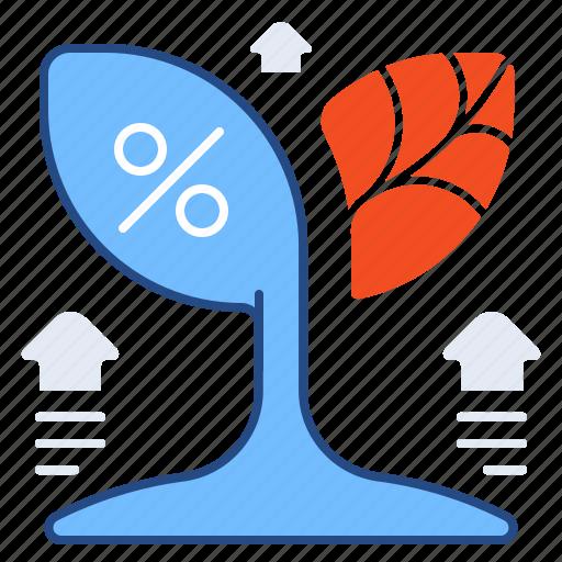 finance, growth, healthy, percentage icon