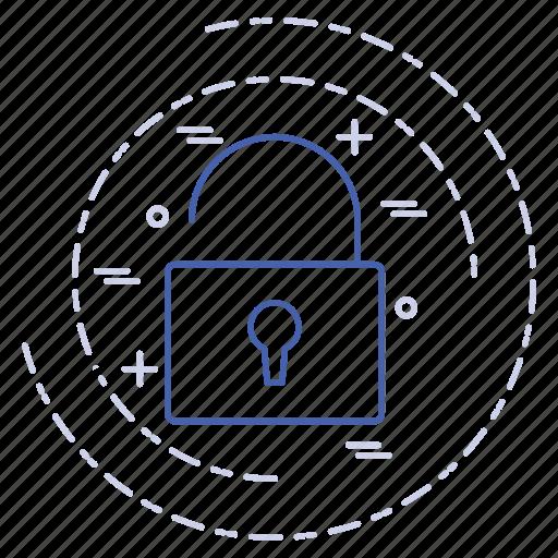 digital, lock, technology icon