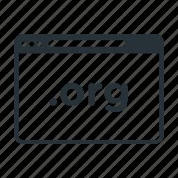 domain, internet, name, org, website icon