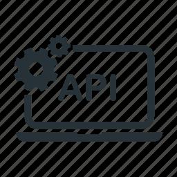 api, computer, database, programming, service, set icon