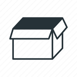 box, delivery, empty, package, shipping icon