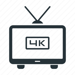 full hd, hd, image, quality, screen, television, tv icon