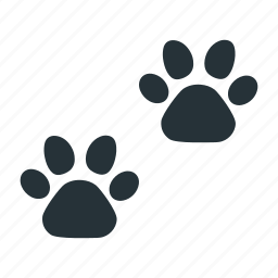 animal, paw, track, wild icon