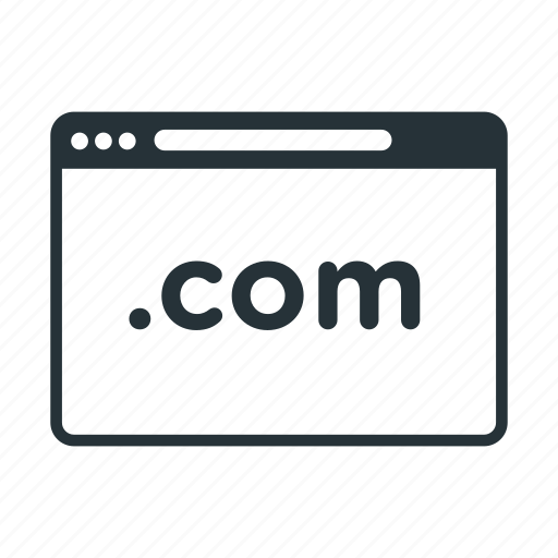 com, domain, internet, name, website icon