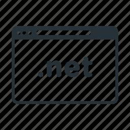 domain, internet, name, net, website icon