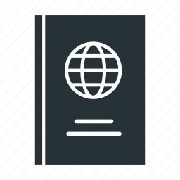foreign, id, international, passport icon