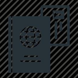 document, id card, passport icon