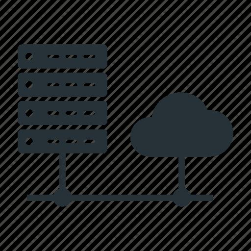 cloud, data, data center, database, network, server icon