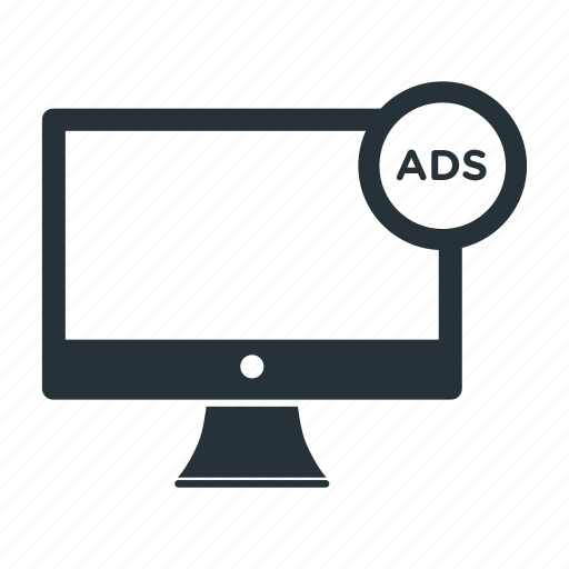 ads, advertising, computer, display, internet, pc, promotion icon