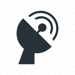 antenna, information, radio, satellite, signal, space, wave icon