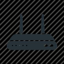 adsl, fiber, internet, modem, optic, router, wireless icon