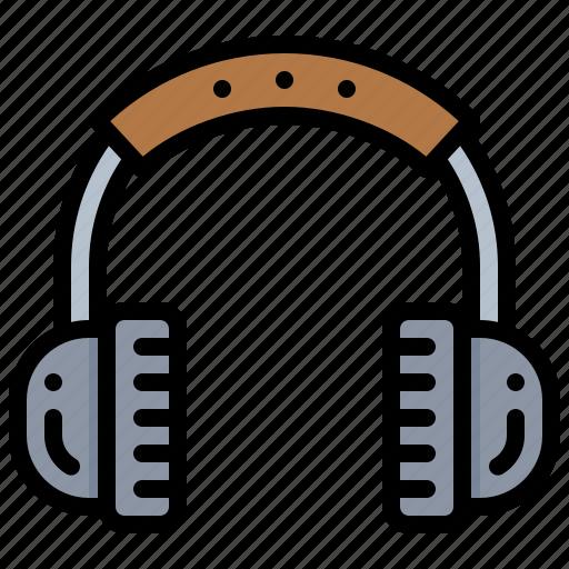 earphone, headphone, headset, technology icon