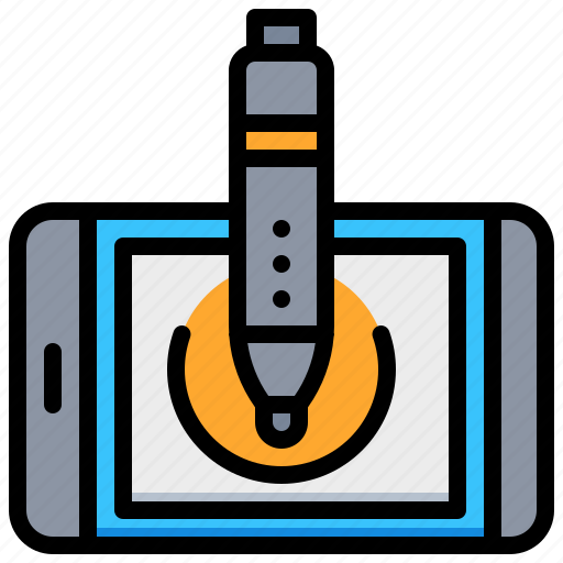electronic, pen, tablet, technology icon