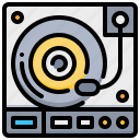 cd, disc, player, record, technology icon